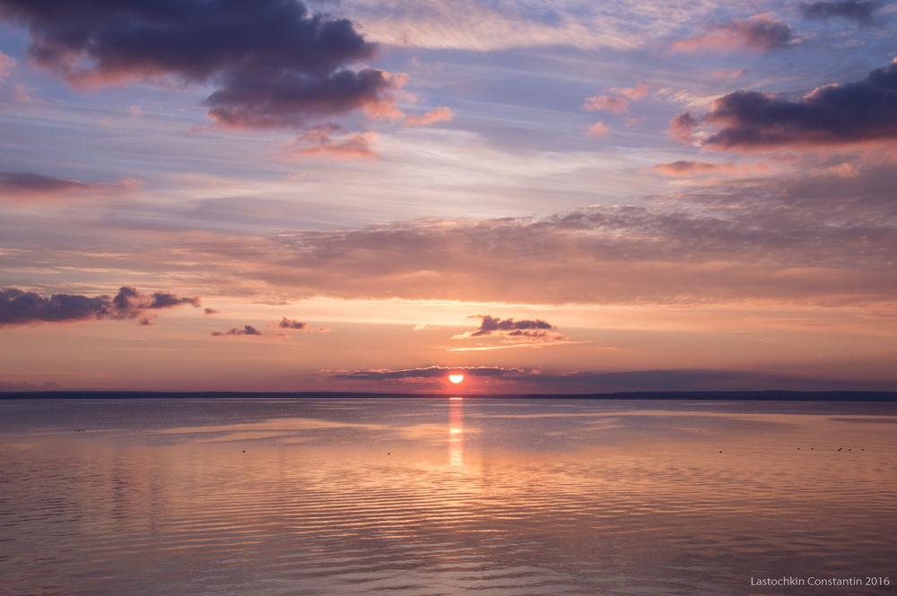 закат, вечер, уж вечерело, волга, река, тишина