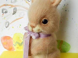 Felted Easter Bunny for Beginners. Livemaster - handmade