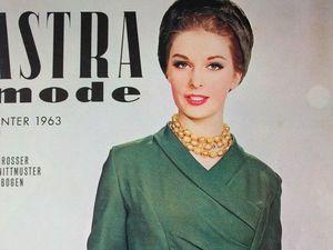 Astra mode- старый немецкий журнал мод -зима 1963. Ярмарка Мастеров - ручная работа, handmade.