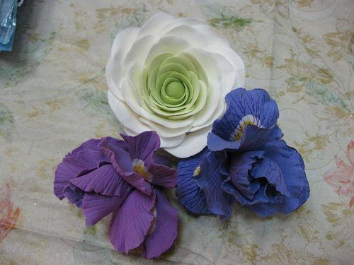 лепка цветов, школа рукоделия
