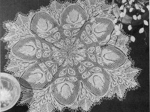 Идеи для вдохновения от Herbert Niebling — гениальные скатерти и салфетки спицами. Ярмарка Мастеров - ручная работа, handmade.