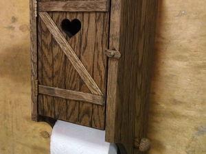 Мастерим деревянный держатель для туалетной бумаги. Ярмарка Мастеров - ручная работа, handmade.