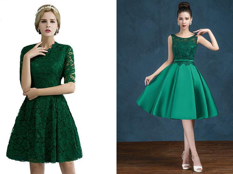 Платье цвета изумрудна