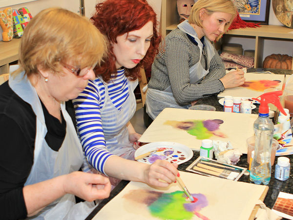 Добавили яркости! Отчет о моем мастер-классе по росписи сумки-шоппера | Ярмарка Мастеров - ручная работа, handmade