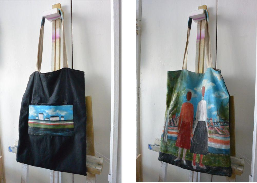 Реставрация льняной сумки., фото № 6