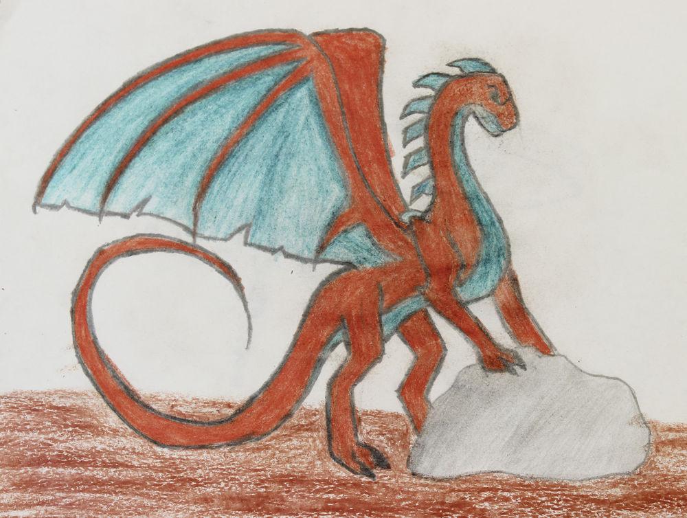 дракон, живопись