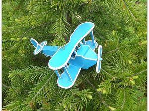 Мастерим игрушечный самолетик для Мишутки. Ярмарка Мастеров - ручная работа, handmade.