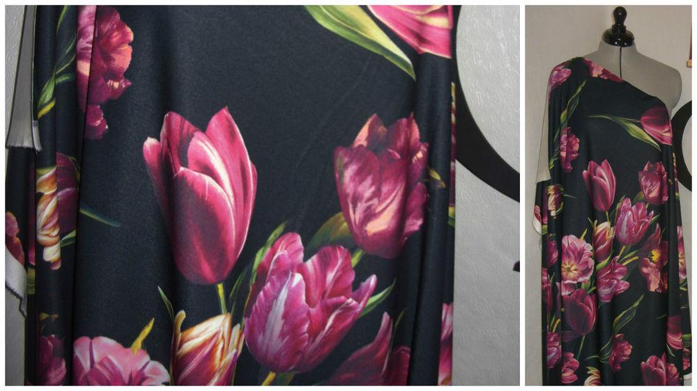 ткани, трикотаж, цветы