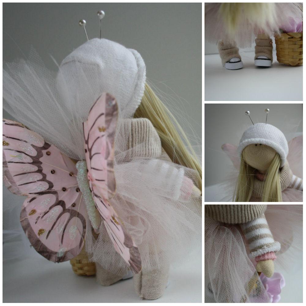 сшить куколку, кукла своими руками, бабочки, трессы