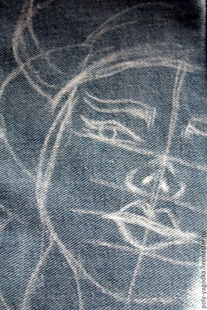 джинсовка, разрисованная куртка