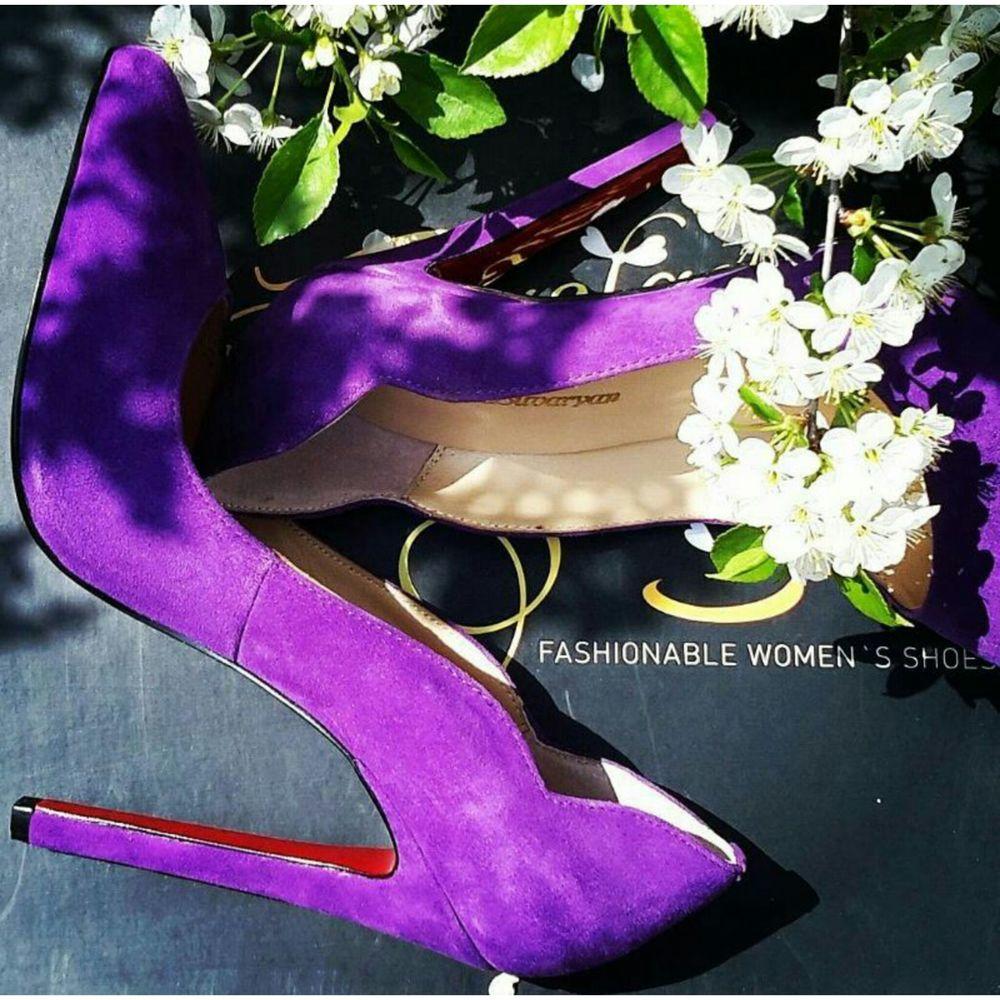 образ, фиолетовая обувь, блог