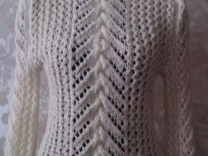 аукцион на ажурный белый свитер. Ярмарка Мастеров - ручная работа, handmade.