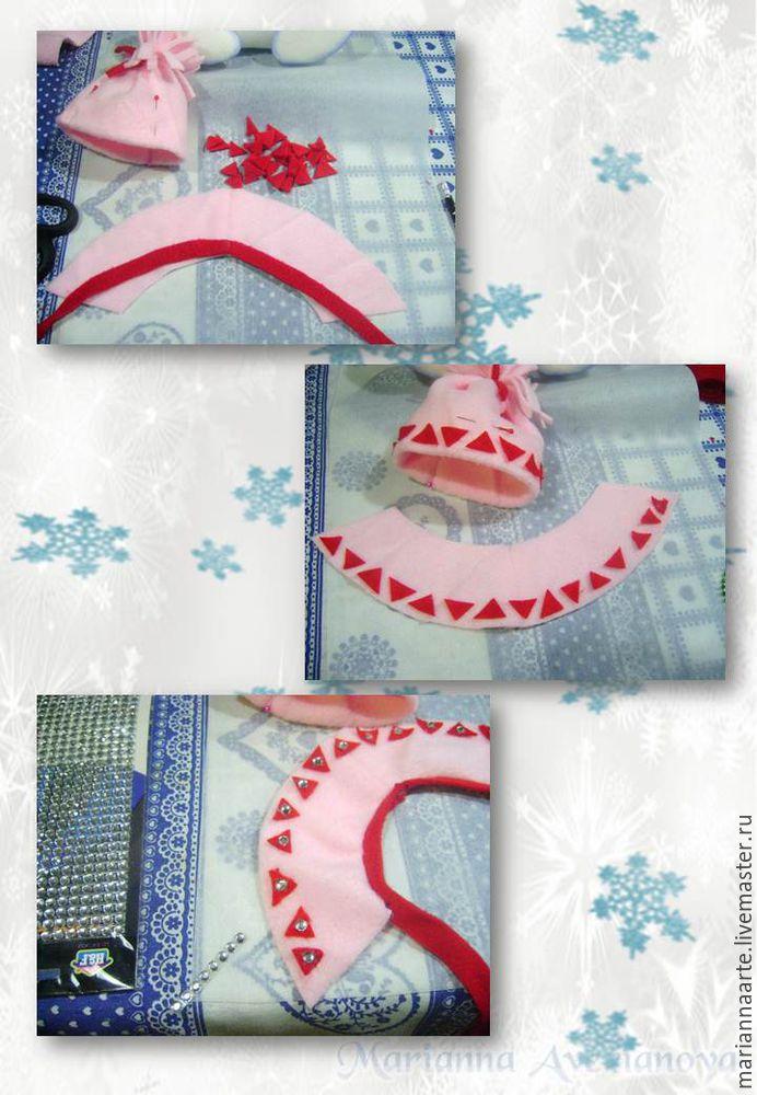 Мастер-класс по созданию забавной новогодней игрушки «Снеговичок-тюфячок», фото № 30