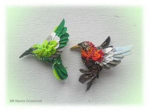 Шьем птичку-брошь из фетра и украшаем ее пайетками и бисером. Ярмарка Мастеров - ручная работа, handmade.