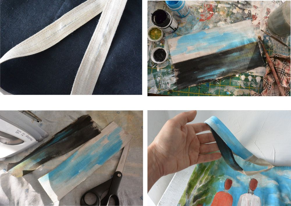 Реставрация льняной сумки., фото № 5