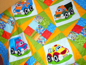 Детское лоскутное одеяло