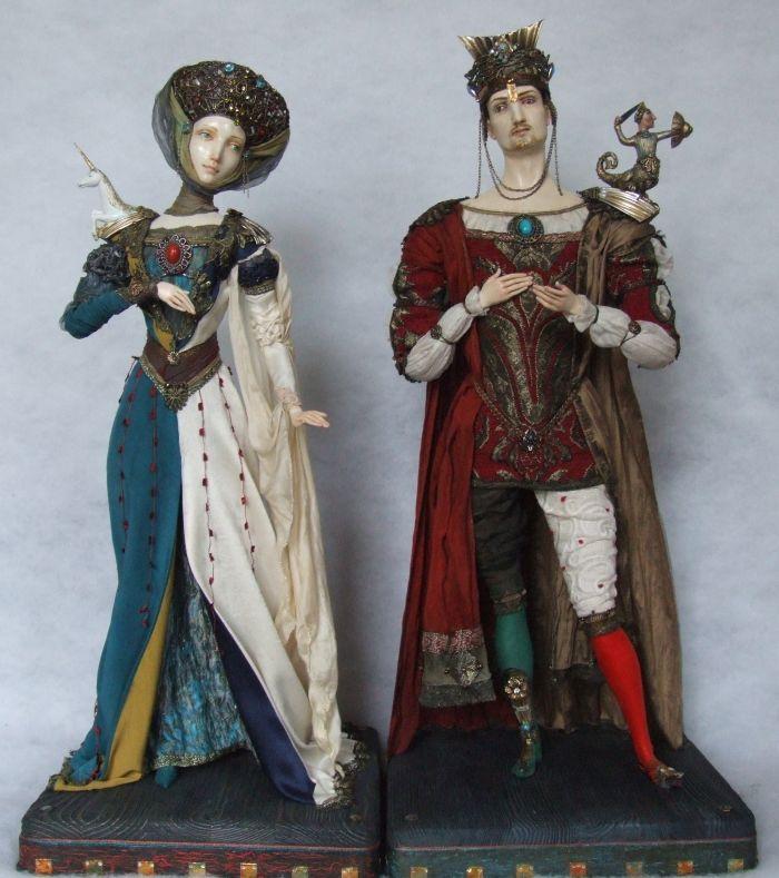 dolls from papier-mache
