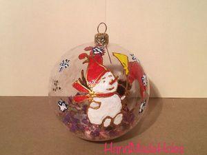 Делаем новогодний шар «Заснеженные цветы». Ярмарка Мастеров - ручная работа, handmade.