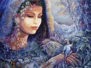 """Процесс вышивки картины """"Дух зимы"""". Ярмарка Мастеров - ручная работа, handmade."""