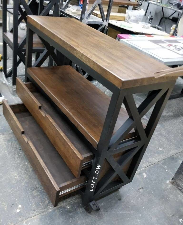 этажерка в стиле лофт, журнальный стол