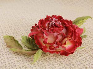 Бархатная роза | Ярмарка Мастеров - ручная работа, handmade