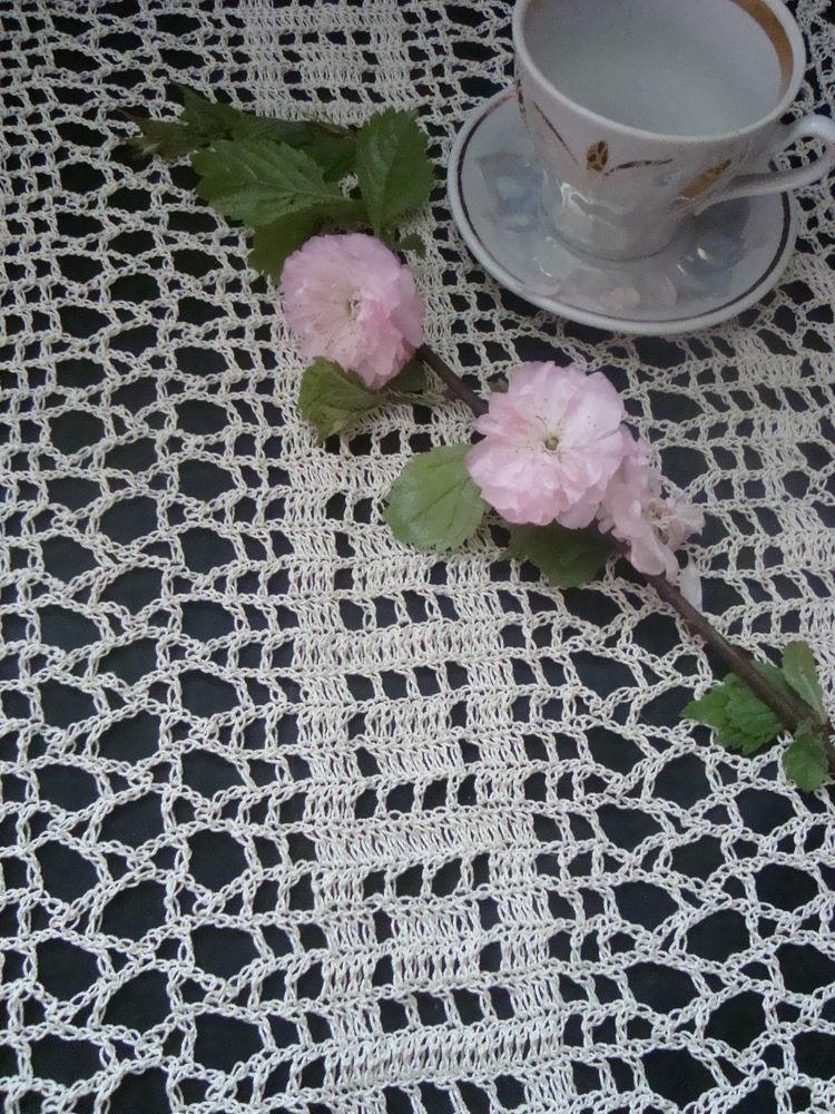 вязаная салфетка, вязание по заказу, винтажный стиль
