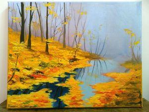 Картина маслом - Тихая осень идет. Ярмарка Мастеров - ручная работа, handmade.