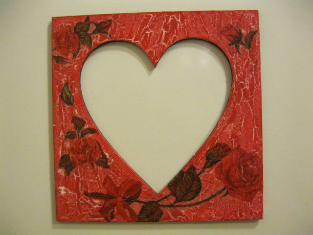 Как сделать рамку для в форме сердца