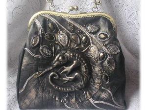 Шьем сумку из кожи с выпуклой фигуркой. Ярмарка Мастеров - ручная работа, handmade.
