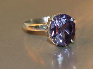 Кольцо-александрит Чохральского-серебро 925%