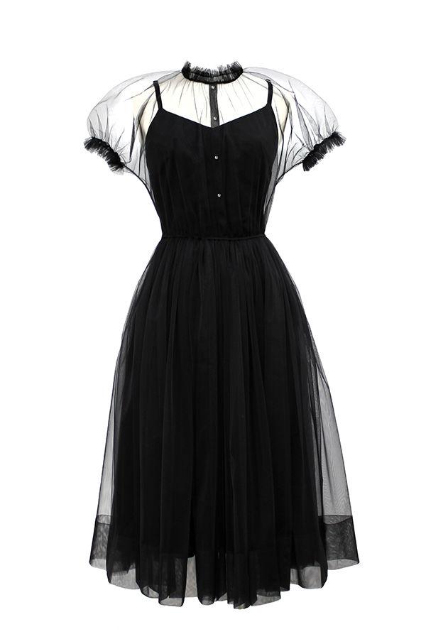 прозрачное платье, сборка, комбинация