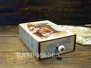 Новинка нашей студии! Шкатулка для рукоделия   Ярмарка Мастеров - ручная работа, handmade