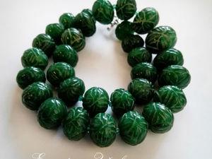 Аукцион на ожерелье из изумруда!. Ярмарка Мастеров - ручная работа, handmade.