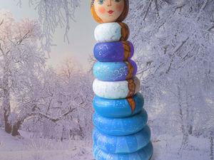 Снегурочка-пирамидка | Ярмарка Мастеров - ручная работа, handmade
