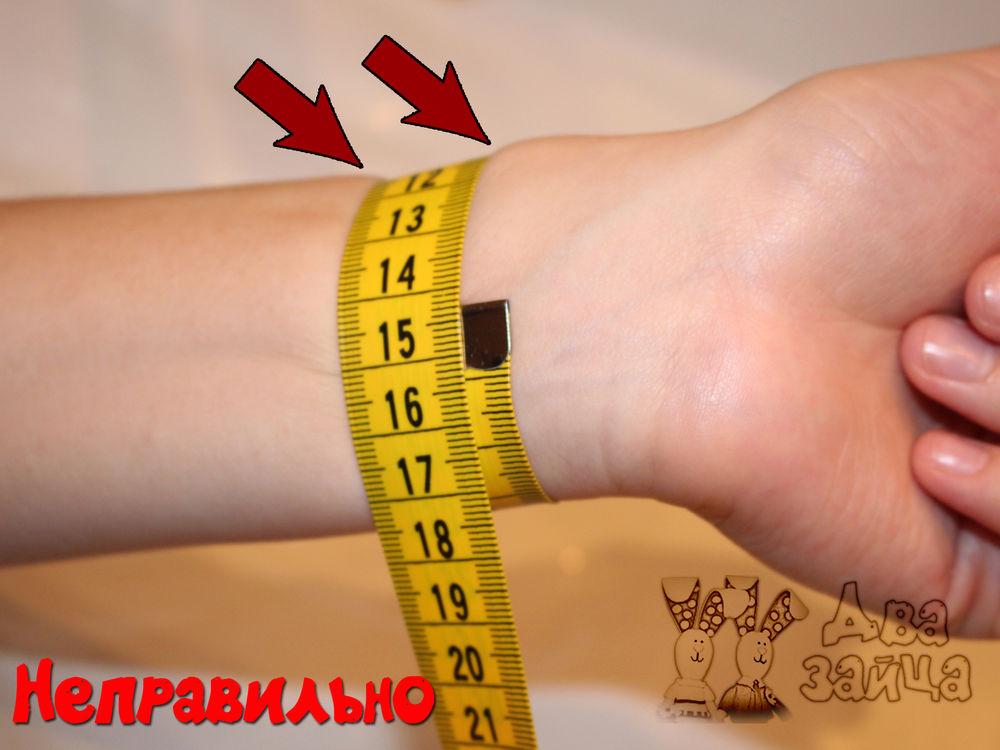 размер браслета, запястье, размер, как снять мерки, сантиметр, браслеты ручной работы