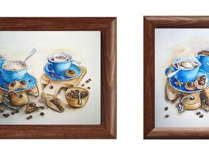 Видеоурок: рисуем акварельную иллюстрацию «Вечерний кофе». Стилизуем натюрморт.. Ярмарка Мастеров - ручная работа, handmade.