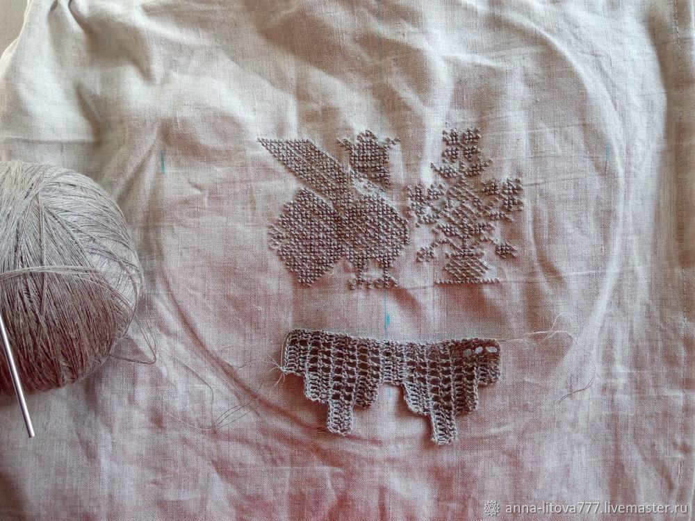 Шьём килт для бани с вышивкой крестом и филейным