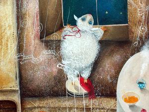 Картина маслом Звездочёт. Новинка магазина.. Ярмарка Мастеров - ручная работа, handmade.