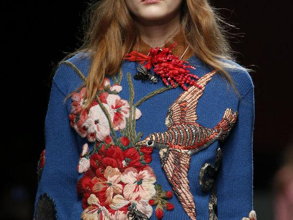 Объемная вышивка на шерстяном свитере от Gucci   Ярмарка Мастеров - ручная работа, handmade