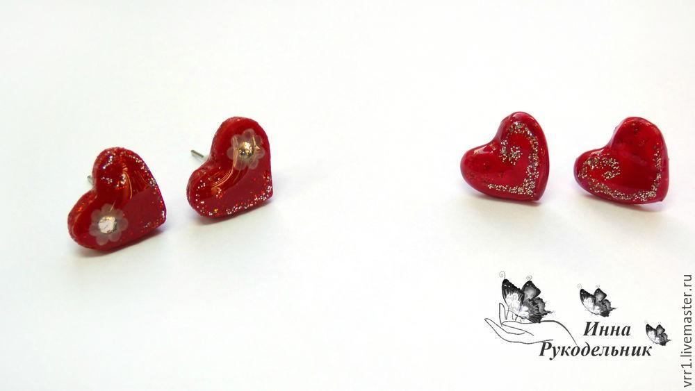 сердечки, лепка из полимерной глины, diy
