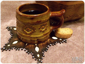 Декорируем подставку под чашку в технике выжигания. Ярмарка Мастеров - ручная работа, handmade.