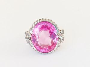 Видео кольца с розовым топазом и сапфирами. Серебро 925 пробы. Ярмарка Мастеров - ручная работа, handmade.