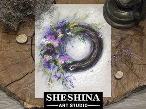Видео мастер-класс: рисуем венок из весенних цветов сухой пастелью. Ярмарка Мастеров - ручная работа, handmade.