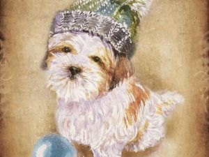 Акция на милых щеночков-открытки-календарики | Ярмарка Мастеров - ручная работа, handmade