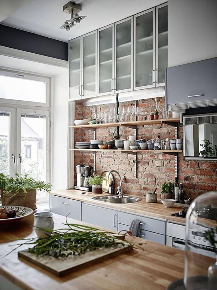 кухня лофт интерьер