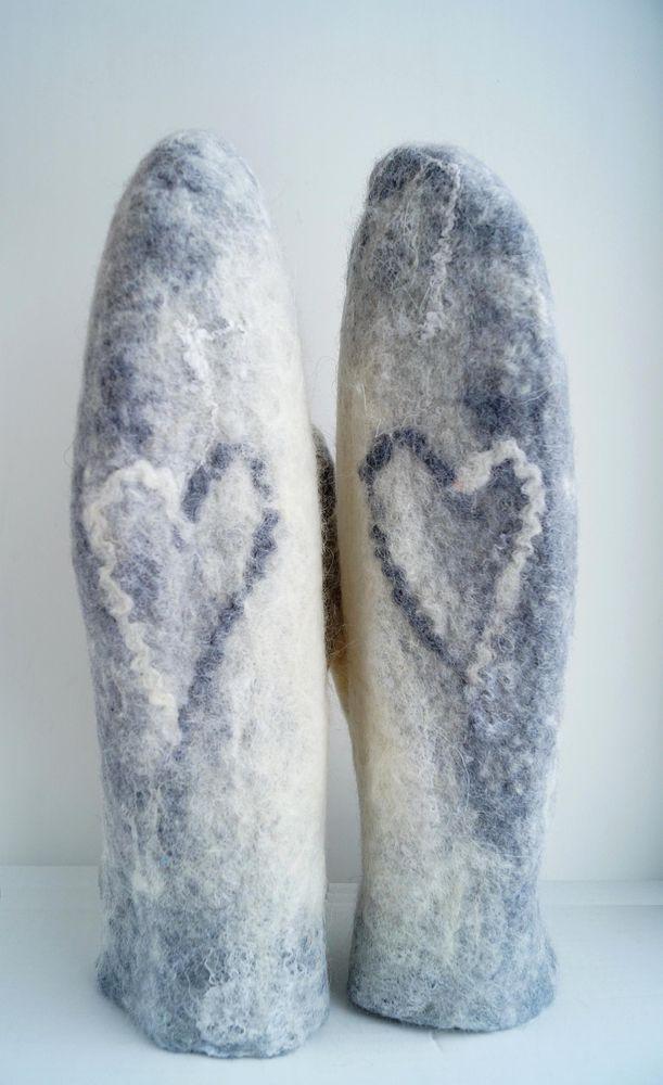рукавички валяные