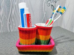 Делаем органайзер для ванной из подручных материалов. Ярмарка Мастеров - ручная работа, handmade.