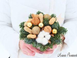 Видеурок: новогодняя композиция в кружке с орехами и веточкой нобилис. Ярмарка Мастеров - ручная работа, handmade.