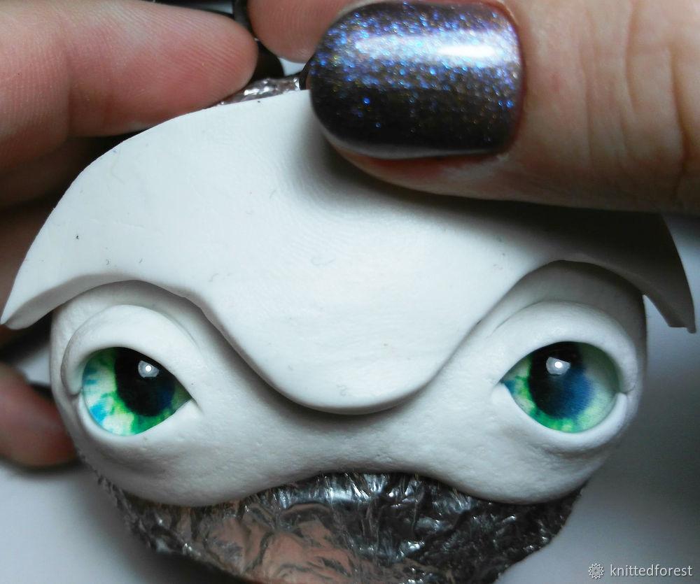 Процесс создания авторской игрушки из полимерной глины. Часть 1. Лепка мордочки, фото № 22