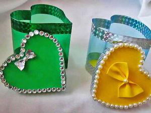 Ко Дню святого Валентина делаем подарочную упаковку из пластиковой бутылки: видеоурок. Ярмарка Мастеров - ручная работа, handmade.